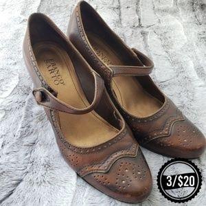 🌴 Franco Sarto Brown Heels